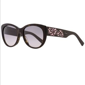 Dior Inedite Sunglasses with Pink Strass Crystals